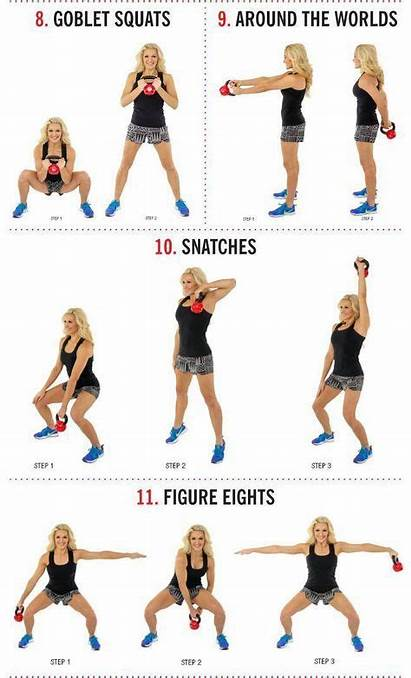 Kettlebell Workouts Training Weight Shoulder Exercises Kettle