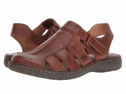 Born Sandals Leather Tan Grain Brown Justice