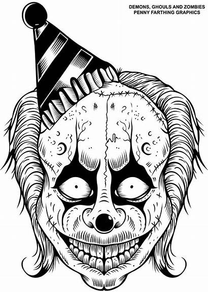 Coloring Pages Demons Fiend Ghouls Zombies Skull