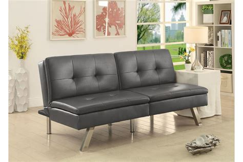 Convertible Sofa Modern by Chrissy Modern Tufted Leatherette Convertible Futon Sofa