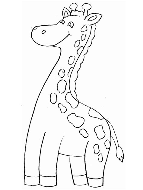 giraffe animals coloring pages coloring book