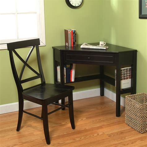 Corner Desk At Walmart by Corner Writing Desk With Easton Crossback Chair Black