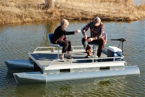 Fishing Pontoon Boat Brands by Brand New 12 Ft Two Person Pontoon Fishing Boat