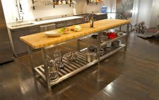 kitchen island with cutting board the best commercial kitchen islands modern kitchens