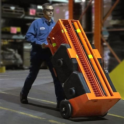 portable safety zone indoor portable barrier system