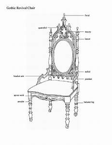 Gothic Revival Chair Diagram