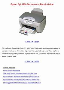Epson Epl 5200 Service And Repair Guide By Clydebrackett