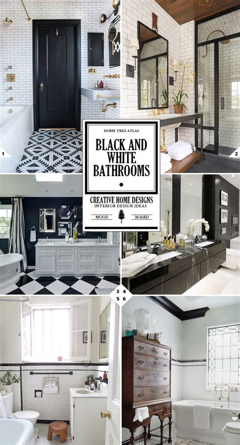 Decoration Ideas For Bathrooms Black And White by The Classic Look Black And White Bathroom Decor Ideas