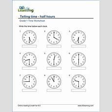 1st Grade Telling Time  Worksheets  Free & Printable  K5 Learning