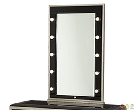 desk mirror with lights michael amini after eight titanium vanity desk w mirror