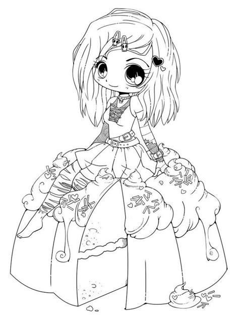 Cute Anime Coloring Pages Coloring Home