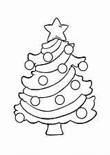 Tree Coloring Christmas Pages Printable Chrismas sketch template