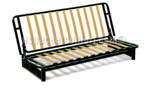 canapé avec coffre structure clic clac seule