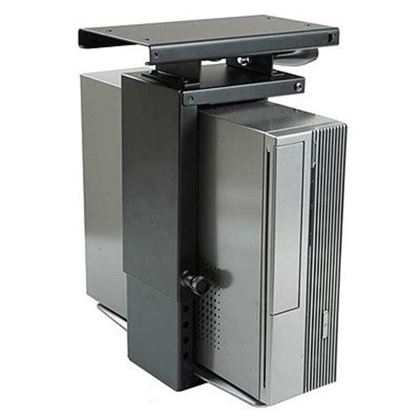 save 16 02 mini cpu holder under desk mount slide