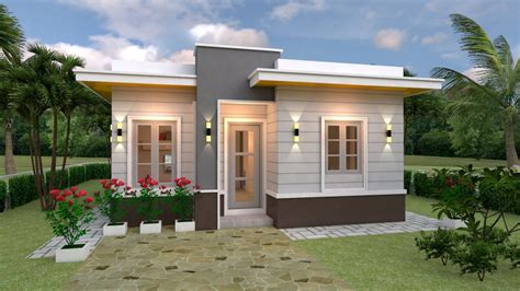 House Plans 7 5x11 with 2 Bedrooms Full plans House