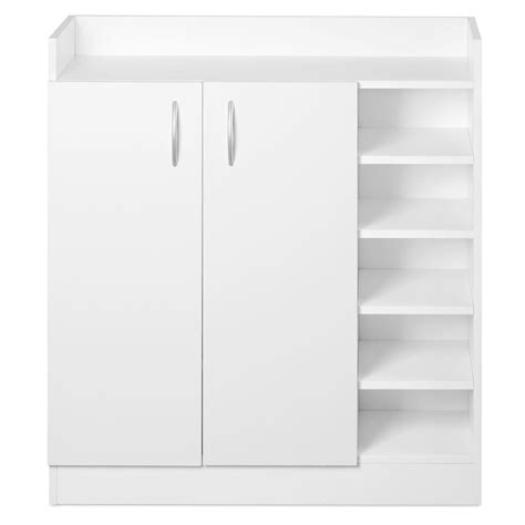 signature furniture warranty 2 doors shoe cabinet storage cupboard white