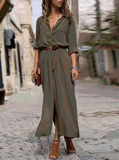 Shift Summer Spring Linen Sleeve Dresses Collar