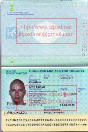 template finland passport psd wwwidpsdnet passport