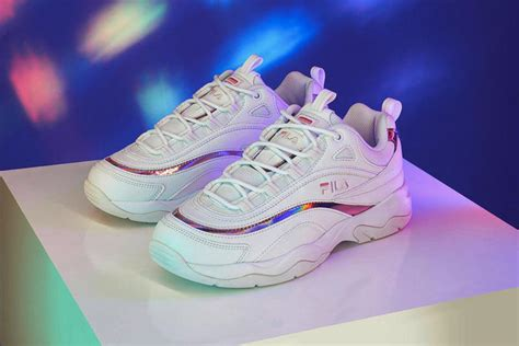 Fila Chunky Ray Sneakers Holographic Pink Prism