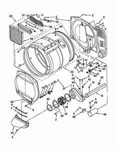 Bulkhead Diagram  U0026 Parts List For Model 11072942100 Kenmore
