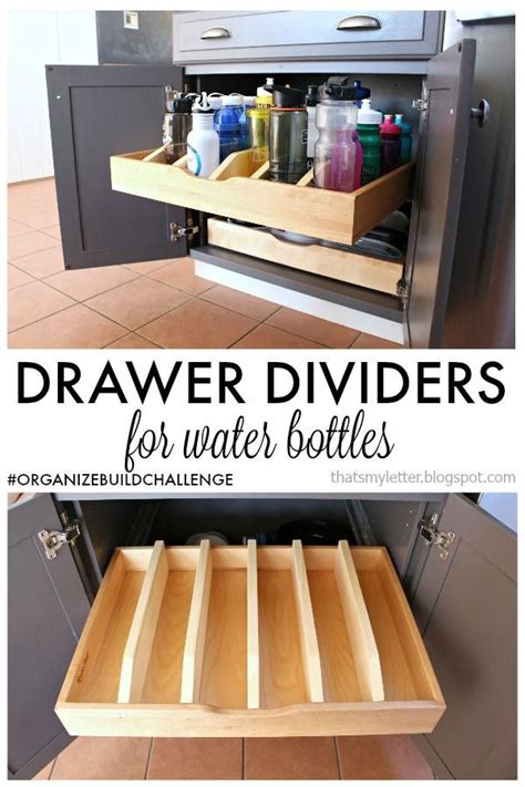 organize your kitchen diy drawer dividers for pull out cabinet drawer 1253