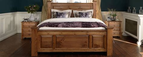 wooden king headboards handmade solid oak beds sleigh four poster