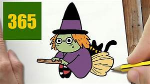 Dessin Facile Halloween : comment dessiner sorci re kawaii tape par tape dessins ~ Melissatoandfro.com Idées de Décoration