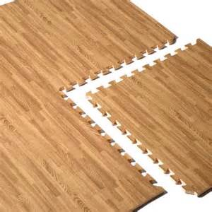 cap barbell foam tile flooring wood grain pattern