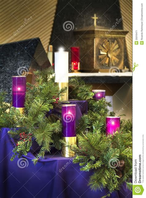 large christmas advent wreath candles  catholic church