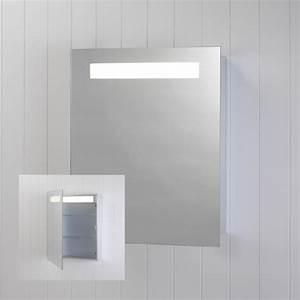 Armoire De Salle De Bain Avec Miroir : armoire salle de bain lumineuse ~ Dailycaller-alerts.com Idées de Décoration