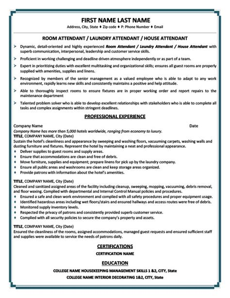 ideas collection dining room attendant sle resume with