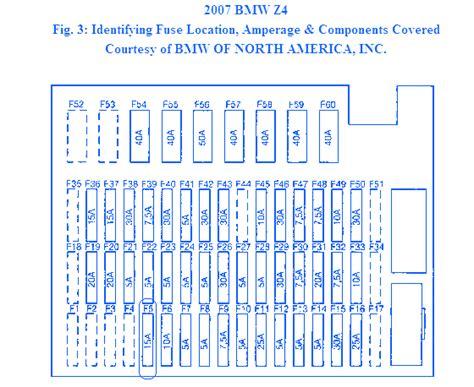 2005 Bmw Fuse Box Diagram by Bmw Z4 Coupe 2005 Fuse Box Block Circuit Breaker Diagram