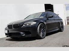 Matte Black BMW F10 M5 Gets Vorsteiner Flow Forged Wheels