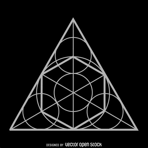 geometric triangle design circle triangle sacred geometry design vector download