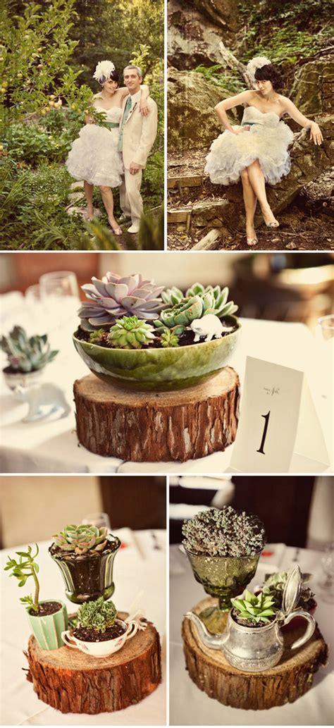 wooden wedding centrepieces