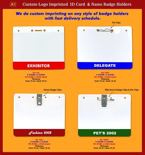 Customimprinted, Customlogo Id Badge Holders, Id Card