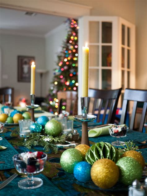 christmas table decorations place settings holiday
