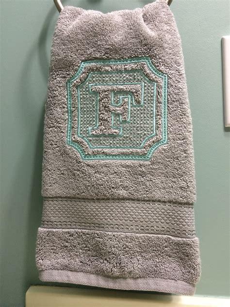 embossed embroidery hand towel preppy embossed monogram  designs  juju httpwww
