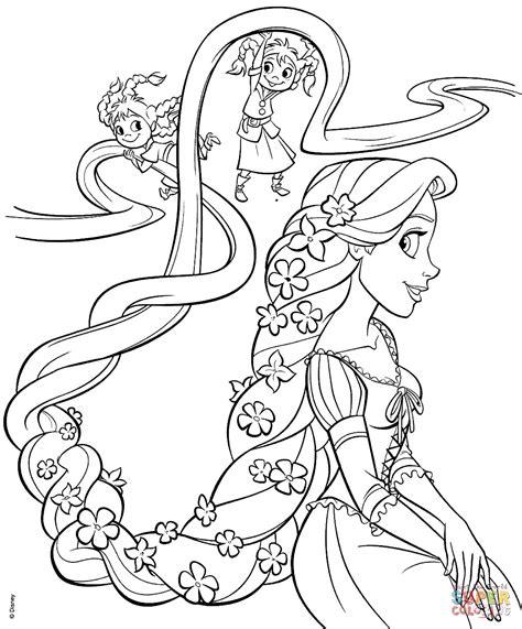 rapunzel   sisters coloring page  printable