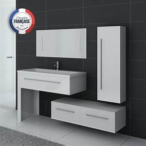 ensemble de meublede salle de bain 1 vasque meuble de With meuble simple vasque double robinet