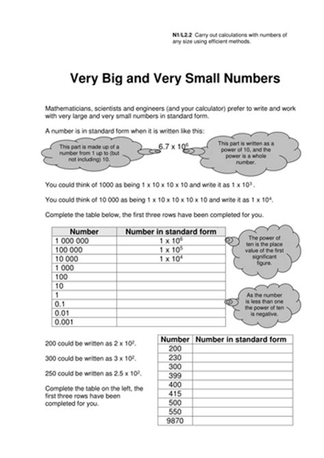 GCSE Standard Form Worksheets by eugenesmith - Teaching