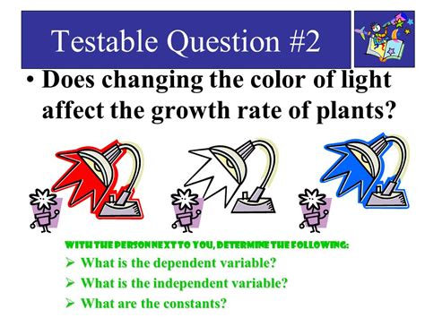 does the color of light affect plant growth what is a variable ppt download