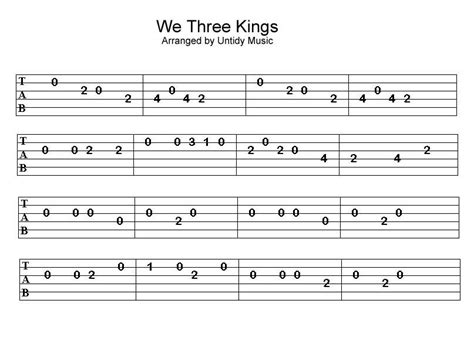 It's a perfect song for a beginner guitar player. Guitar Tabs Beginner