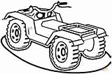 Atv Drawing Quad Coloring Pages Wheeler Four Clipartmag sketch template