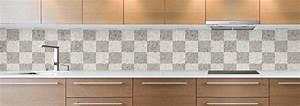 Credence Sur Carrelage : cr dence de cuisine sur mesure cr dence carrelage blanc gris ~ Premium-room.com Idées de Décoration