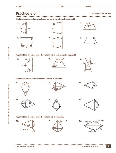 worksheets trapezoid worksheet opossumsoft worksheets