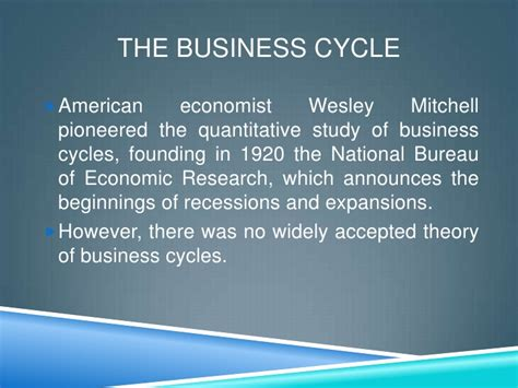bureau for economic research business cycles national bureau of economic research
