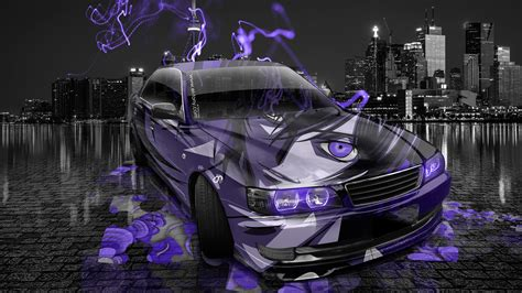 Toyota Hiace 4k Wallpapers by Toyota Chaser Jzx100 Jdm Anime Aerography City Car 2014