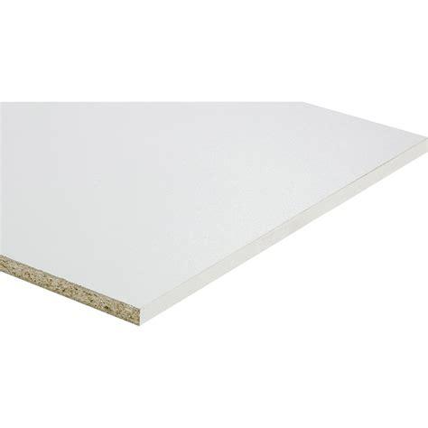 panneau melamine blanc 10mm tablette m 233 lamin 233 blanc l 250 x l 50 cm x ep 18 mm leroy merlin
