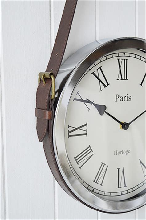 chrome wall clock  vintage belt  england furniture